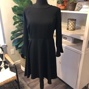 Old Navy Black Flute Sleeve Dress